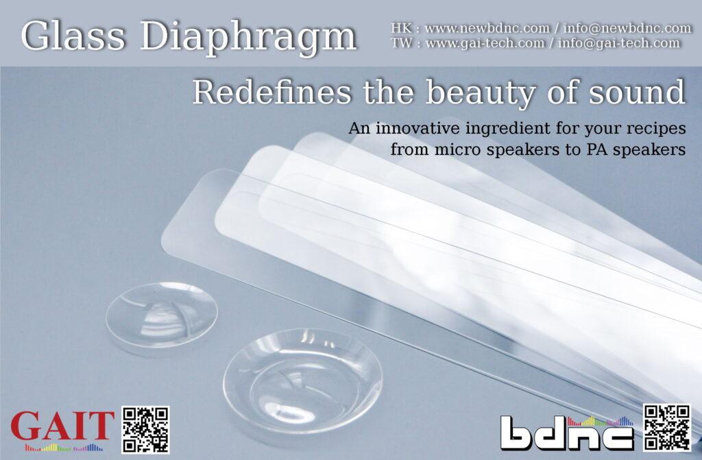 Custom glass diaphragm